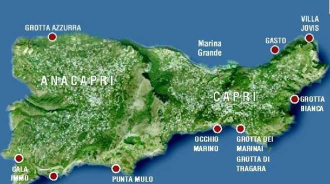 Cartina Costiera Amalfitana E Capri.Capri Vietato Tuffarsi Nella Grotta Azzurra Positanonews