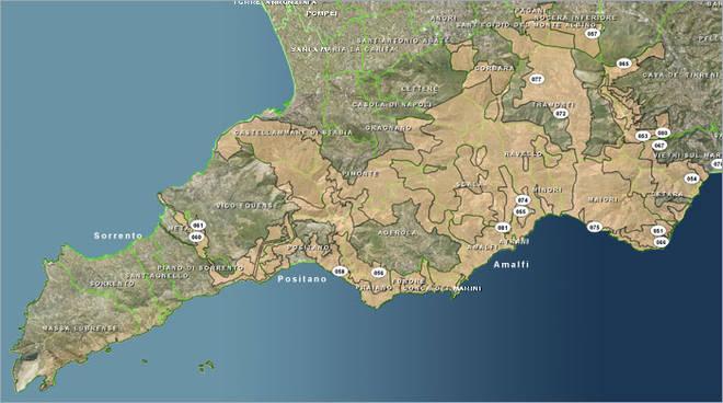 Monti Lattari Mappa