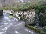 Sant'Agnello protezione civile sparge il sale contro neve e ghiaccio sulle strade