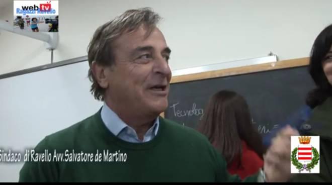 Sindaco Di Martino Ravello incontra ragazzi