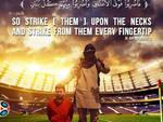 Una foto ritrae Lionel Messi ostaggio dell'Isis