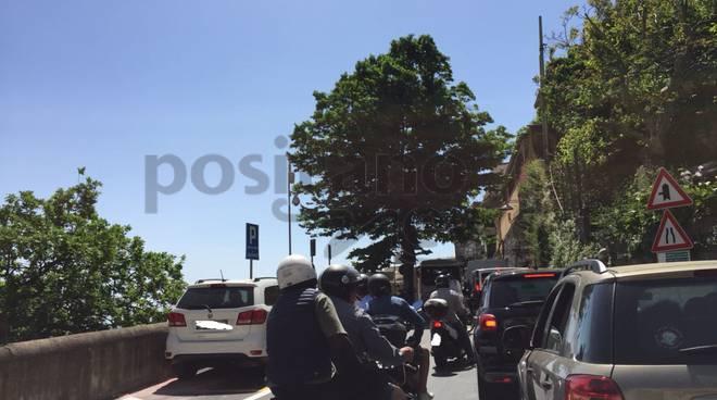 costiera amalfitana penisola sorrentina traffico primo maggio