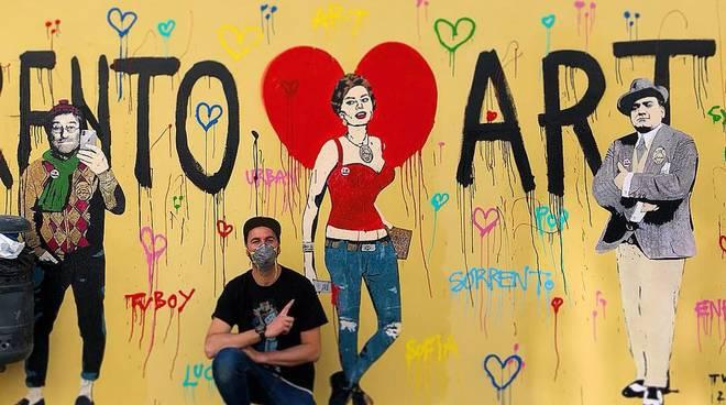 cronaca tvboy street artist sorrento esclusiva