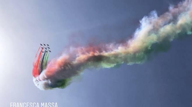 Frecce Tricolori a Sorrento Francesca Massa
