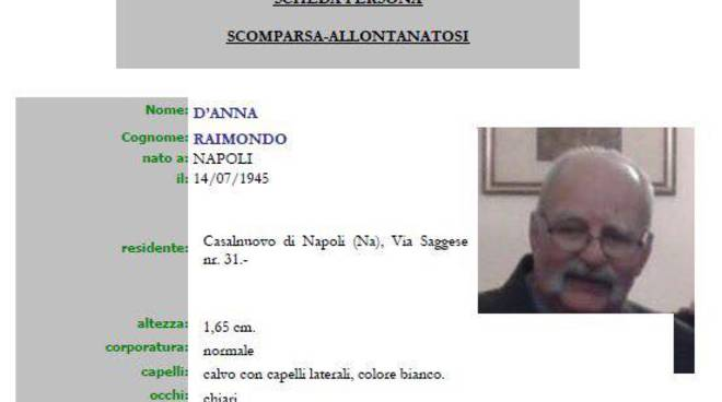 Raimondo D'Anna scomparso