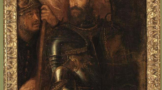 Il ritratto di Pier Luigi Farnese in armatura di Tiziano Vecellio_ph.Luciano Romano_0566