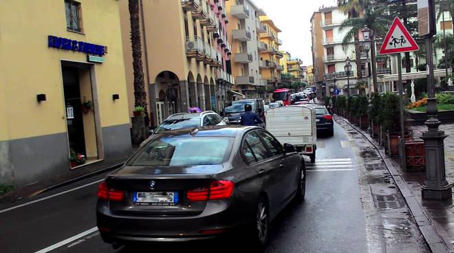 Traffico in penisola sorrentina