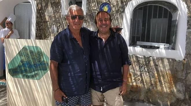 Marcello Lippi con Salvatore Gagliano a Praiano