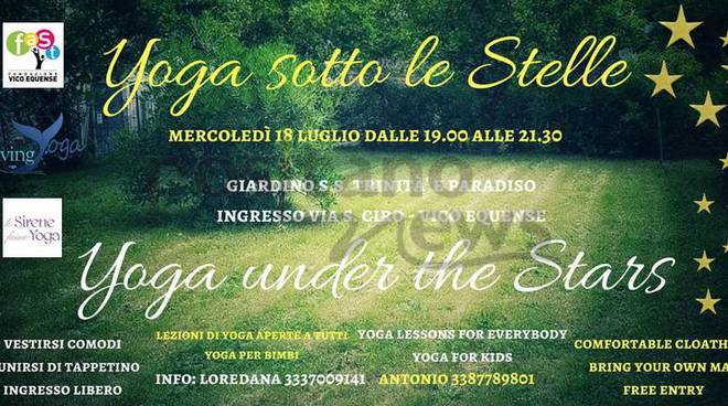 Yoga sotto le Stelle * Yoga under the Stars