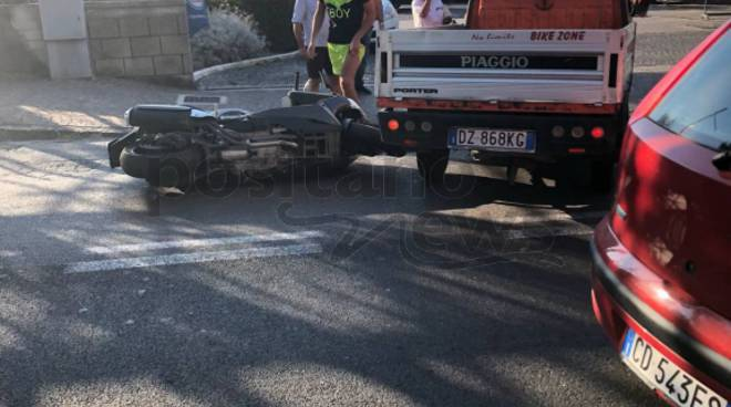 Piano di Sorrento incidente alla pompa di benzina di Via dei Platani