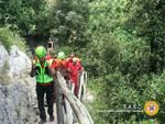 Sentiero degli Dei intervento del soccorso alpino