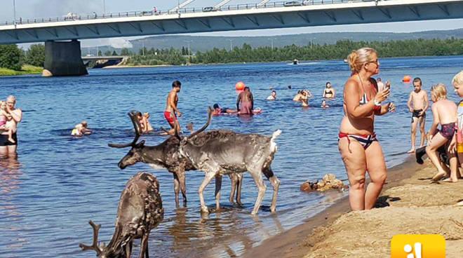 Caldo record in tutta europa da babbo natale si fanno il for Bagno caldo durante il ciclo