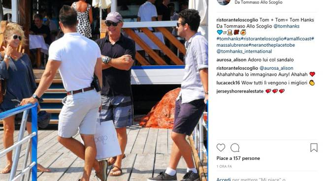 tom hanks nerano capri