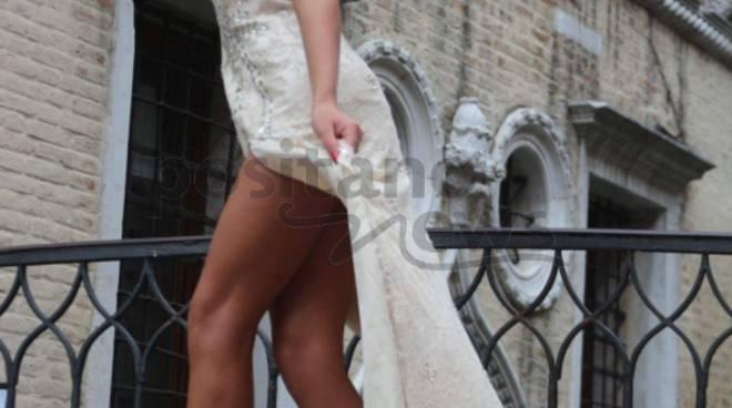 La modella napoletana Tanya La Gatta al Festival internazionale del cinema di Venezia