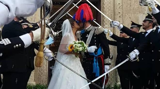 Martina sposo Amalfi Capitano carabinieri