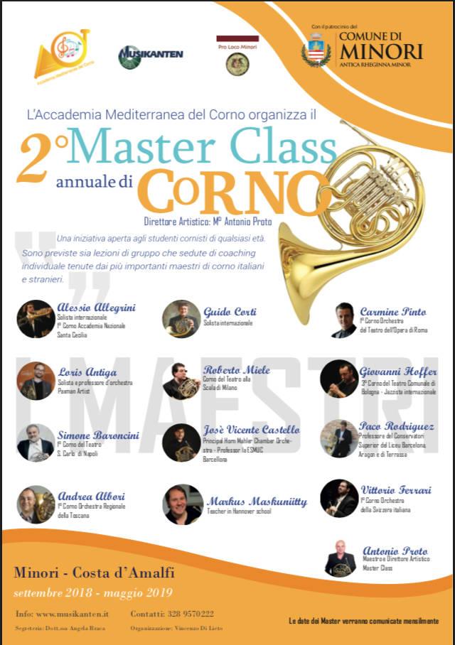 Minori. II Edizione Master Class Annuale di Corno