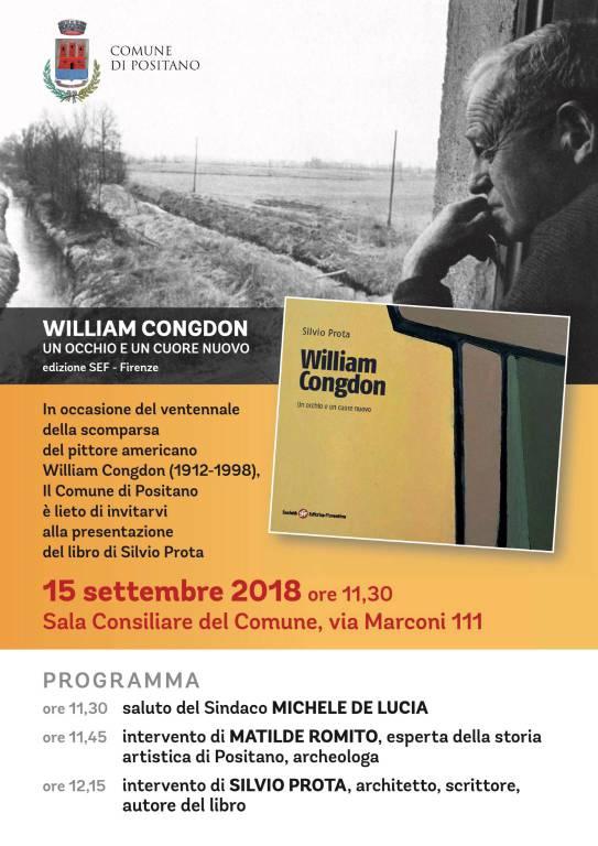 Presentazione del libro su William Congdon