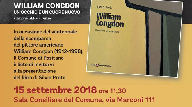 Presentazione del libro su William Congdon