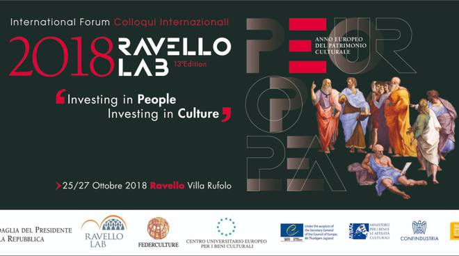 Ravello Lab - Colloqui Internazionali  INVESTING IN PEOPLE INVESTING IN CULTURE