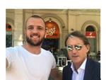 """Salerno. Il CT della Nazionale Italiana Roberto Mancini a pranzo da """"Sugò, cucina rapida"""""""