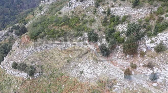 Scala Punta d'Aglio corpo escursionista francese
