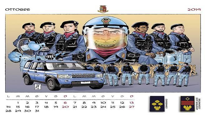Calendario Per Sito Web.Questura Di Salerno Calendario Polizia Di Stato 2019 Al