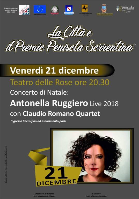 """Antonella Ruggiero in concerto al Premio Penisola Sorrentina """"Arturo Esposito"""""""
