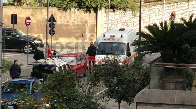 piano di sorrento incidente anziana ambulanza