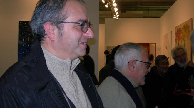 Foto Maurizio Vitiello - Alfredo Celli, Mimmo Paladino, Lucio Dalla, Mimmo Jodice ad Arte Fiera, in passato.