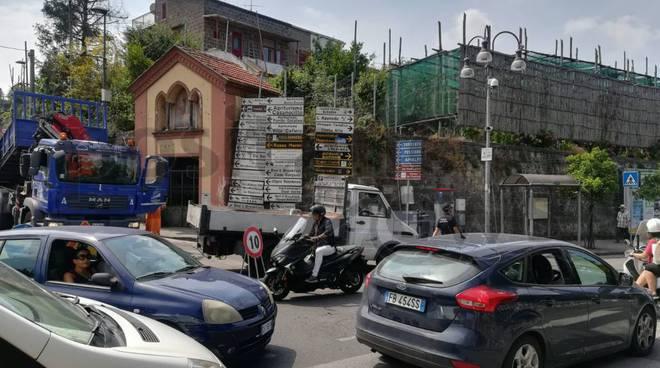Problema traffico in penisola sorrentina