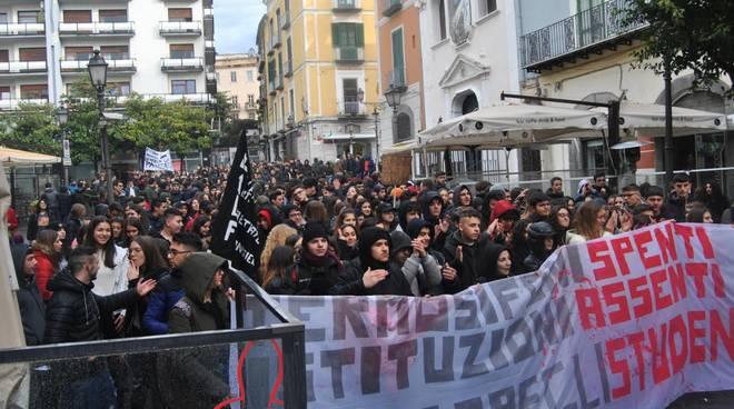 sciopero alunni a salerno