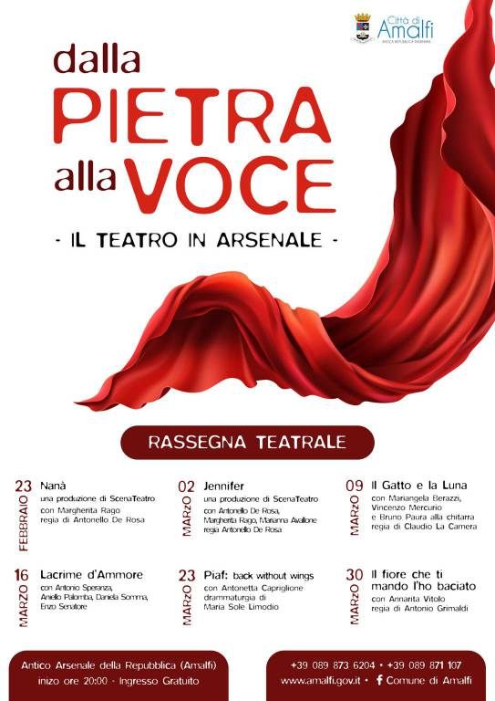"""Amalfi."""" Dalla Pietra alla Voce - Il Teatro in Arsena"""