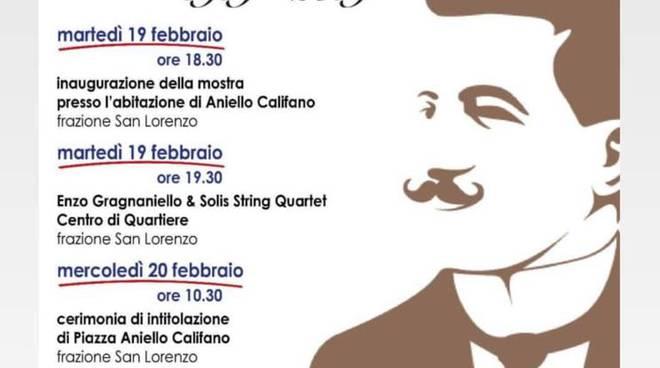 Aniello Califano programma per i 100 anni comune Sorrento assente