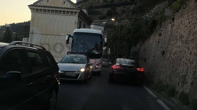 Costiera Amalfitana traffico a febbraio