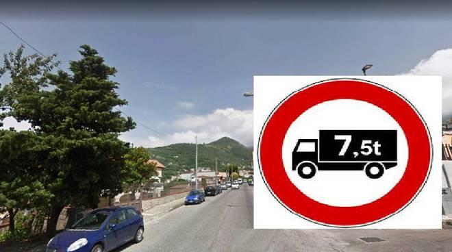 divieto mezzi pesanti ad agerola sulla ss366
