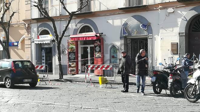 piazza cota transennata