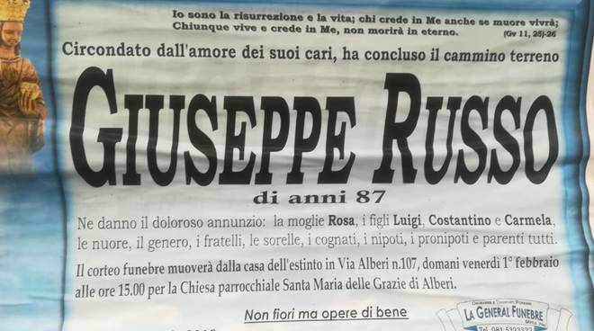 giuseppe russo lutto