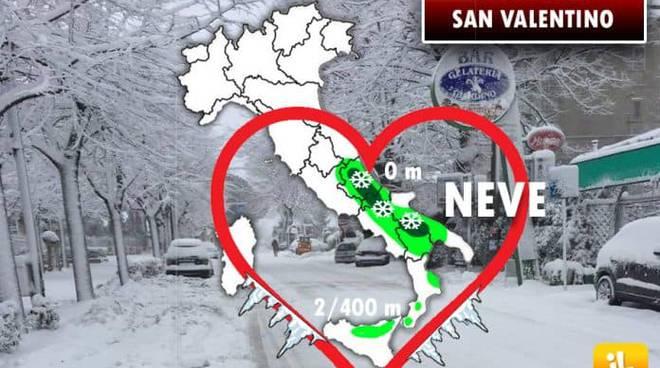 Meteo di San Valentino: sull'Italia tornano neve e gelo