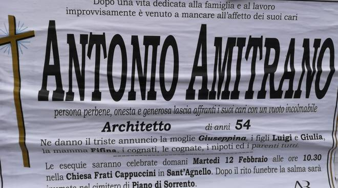 lutto antonio amitrano