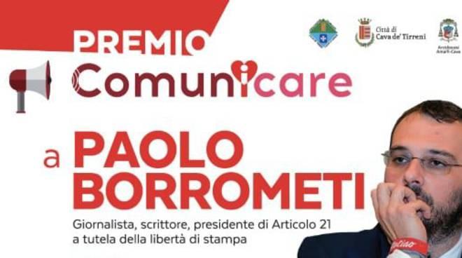 """Cava de' Tirreni: a Paolo Borrometi il premio """"ComunICARE"""" 2019"""