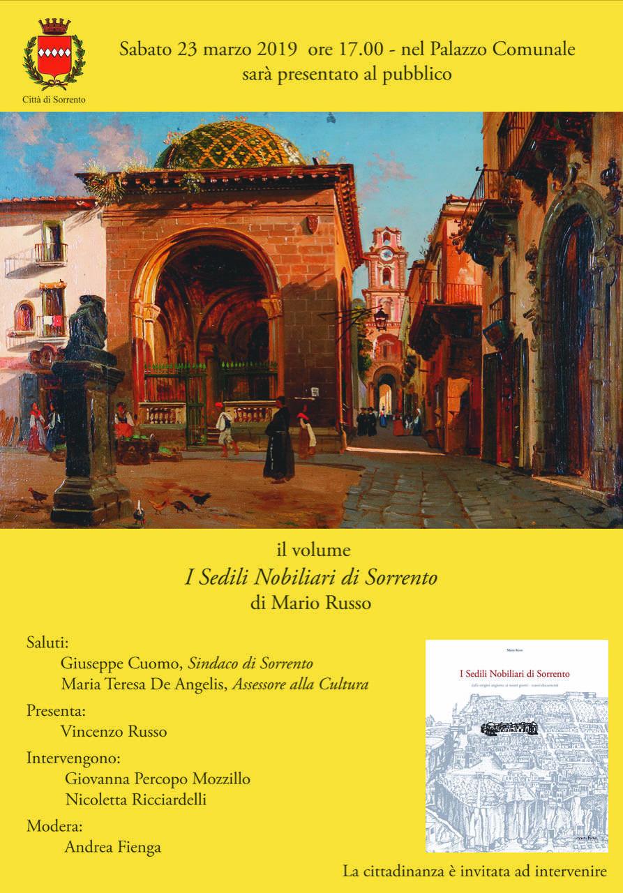 Libri. I sedili nobiliari di Sorrento, l'ultimo volume di Mario Russo