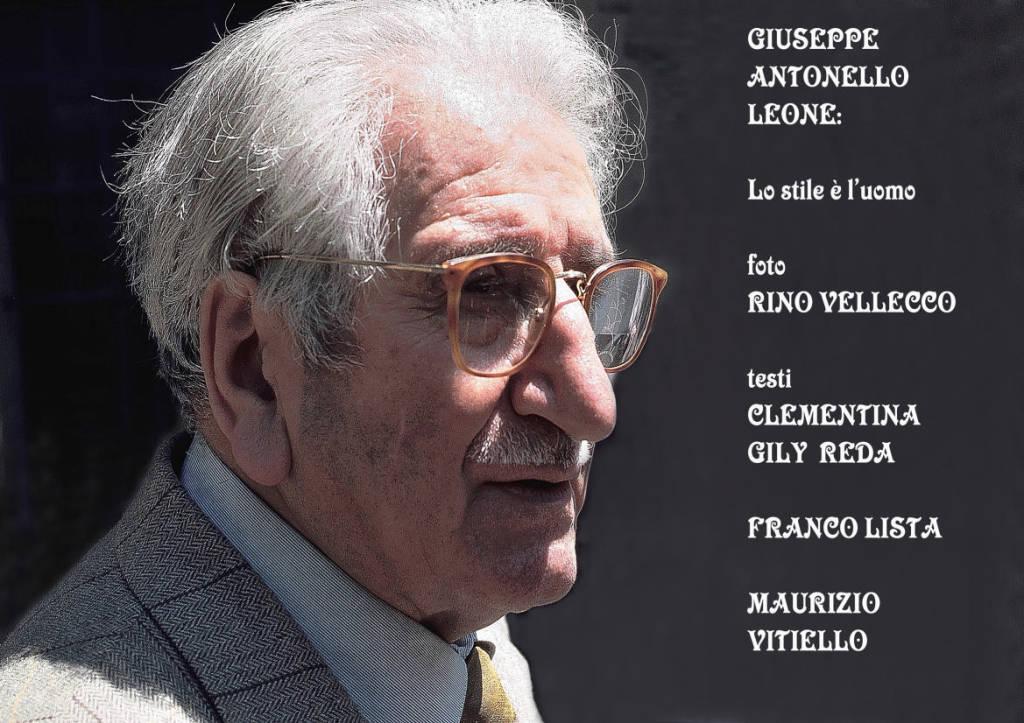 """Fotolibro di Rino Vellecco """"GIUSEPPE ANTONELLO LEONE Lo stile è l'uomo"""","""