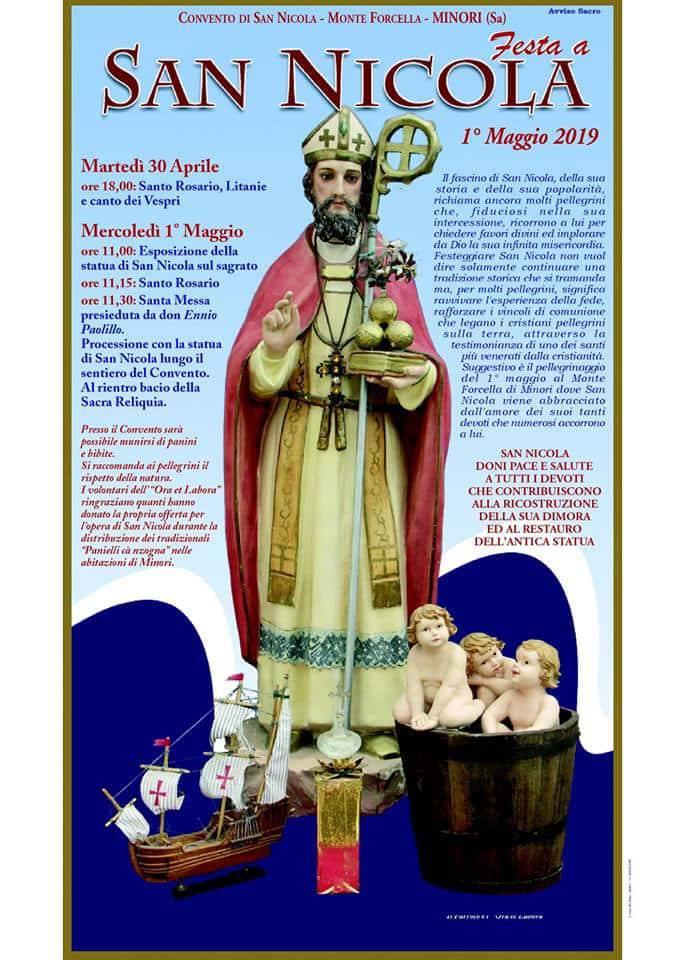 Risultati immagini per PATROCINIO DI SAN NICOLA, MINORI, 1 MAGGIO