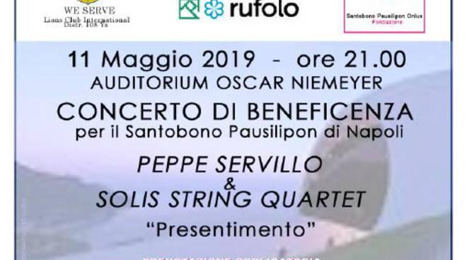 Concerto di beneficenza Peppe Servillo Ravello