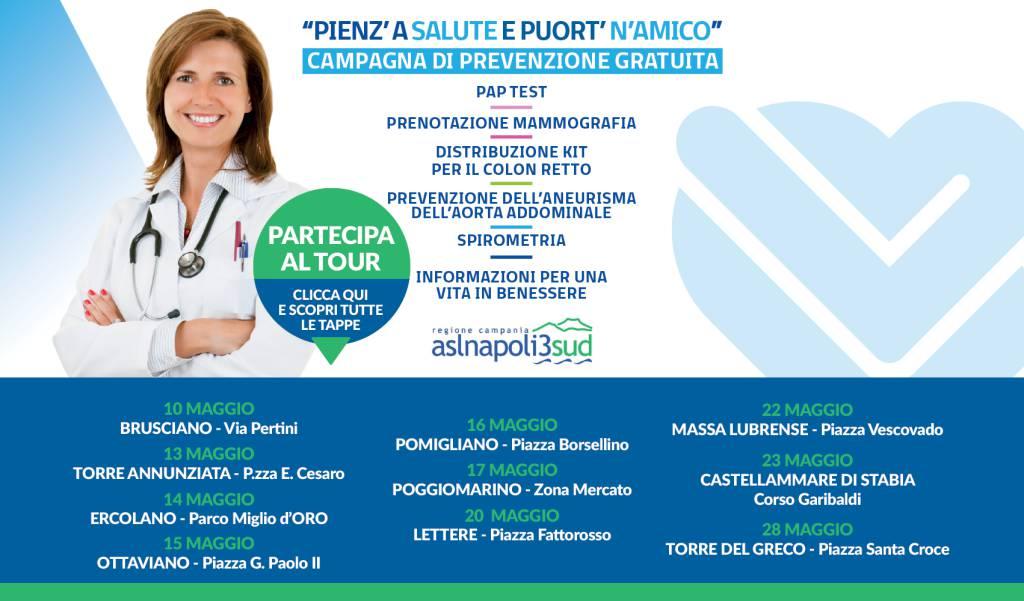Asl Napoli 3 Sud porta in piazza la promozione della salute