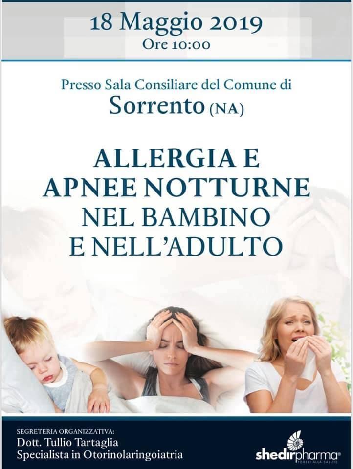 Importante Convegno a Sorrento su allergie e apnee notturne