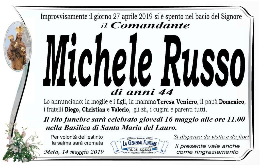 Meta. Domani le esequie del Comandante Michele Russo