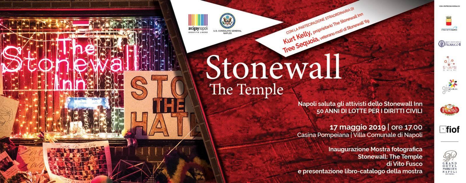 """Vito fusco presentazione del libro e mostra """"Stonewall The Temple"""" il 17 Maggio"""