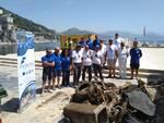 Cetara, raccolti oltre 7 quintali di rifiuti dai fondali del porto