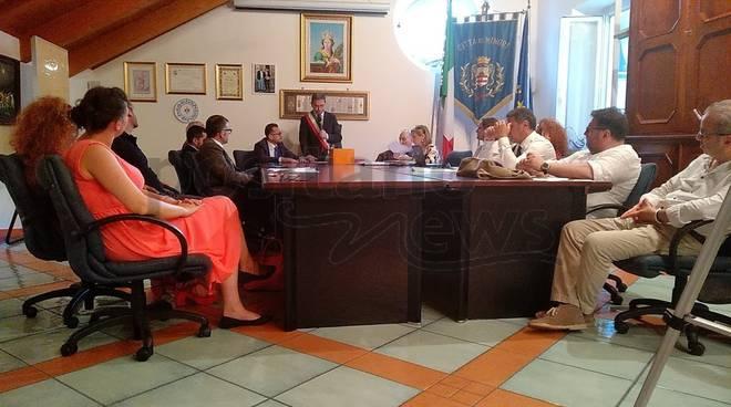 minori andrea reale sindaco insediamento consiglio comunale